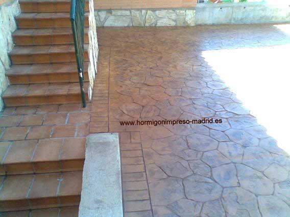 Hormigón impreso Las Rozas de Madrid texturas piedra irregular