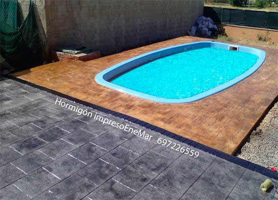 Hormig n impreso san martin de valdeiglesias madrid piscina - Costo de piscinas de hormigon ...