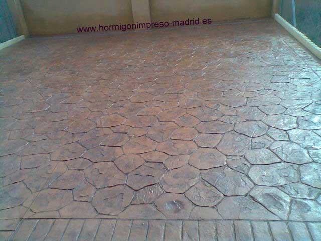 Hormigón impreso Torrejon de Ardoz moldes piedra irregular