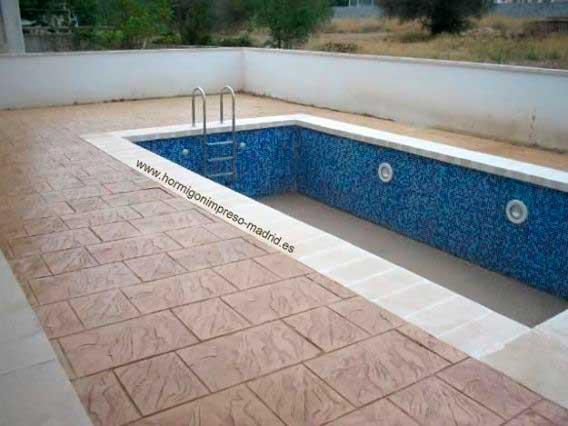 Hormigón impreso Villanueva de la Cañada Madrid,piscina