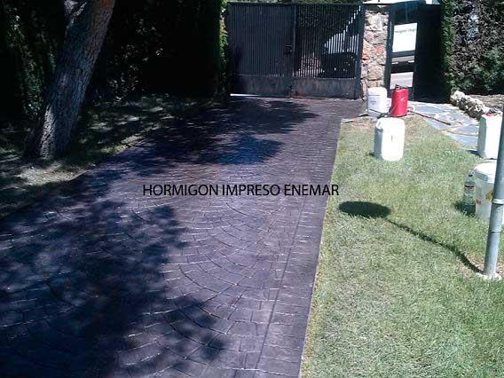 Hormigón impreso en Boadilla del Monte Madrid