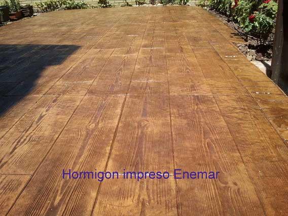 Hormigón impreso Torrejon de la Calzada Madrid imitación madera
