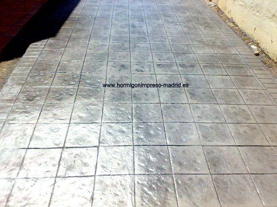 Hormigón impreso en Ajalvir Madrid