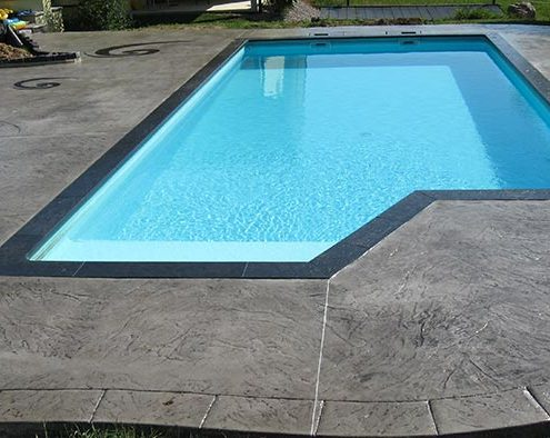 Hormigón impreso - piscina