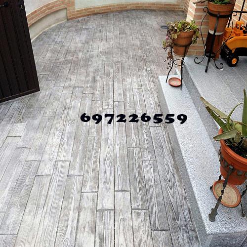 cemento impreso imitación la madera