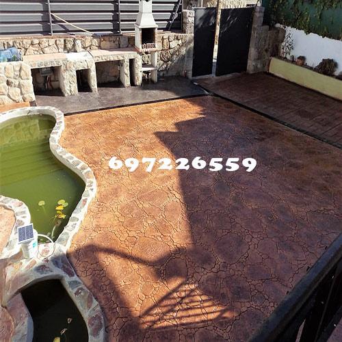 pavimento impreso para patio